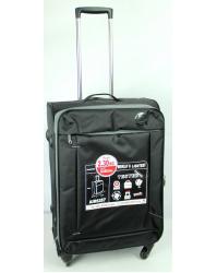 Vidutinis lagaminas AirtexParis 6287 juodas (2,3kg)