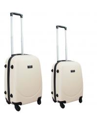 Rankinio bagažo lagaminų komplektas Gravitt 310 (2vnt. S+XS) kreminis