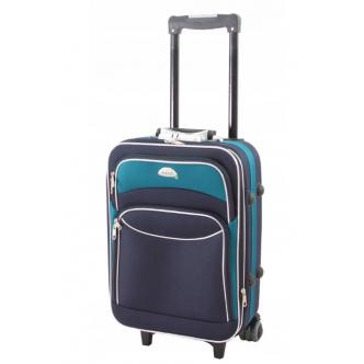 Rankinio bagažo lagaminas DELI 101 tamsiai mėlyna/žalia