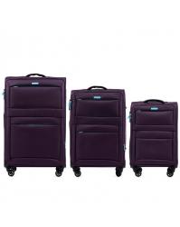 Lagaminų komplektas Wings 2861 violetinis