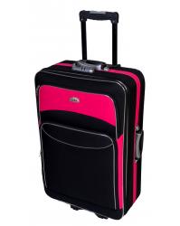 Didelis lagaminas Deli 101 - Juoda/rožinė