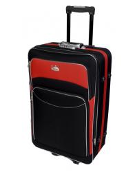 Vidutinis lagaminas Deli 101-V juoda/raudona