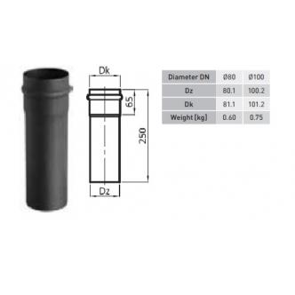 80mm dūmtraukis granulinėms krosnelėms (25cm ilgis)