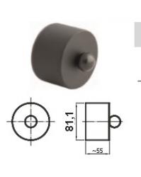 80mm dūmtraukio aklė granulinėms krosnelėms