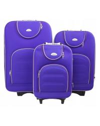 Lagaminų komplektas DELI 801 violetinis