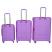 Lagaminų komplektas Burak 738 violetinis