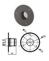 80mm dūmtraukio apdaila