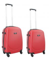 Rankinio bagažo lagaminų komplektas Gravitt 310 (2vnt. S+XS) raudonas