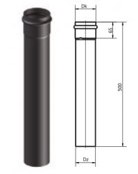 80mm dūmtraukis granulinėms krosnelėms (ilgis - 50cm)