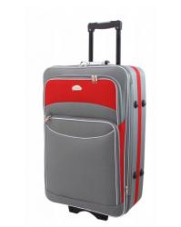 Vidutinis lagaminas Deli 101 pilka/raudona