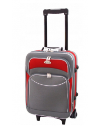 Rankinio bagažo lagaminas Deli 101 pilka/raudona
