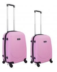 Rankinio bagažo lagaminų komplektas Gravitt 310 (2vnt. S+XS) rožinis