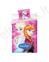 "Vaikiška patalynė ""Pink Frozen"" (Ledo šalis)"